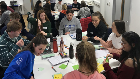 Student leaders gather for first day of leadership programme.