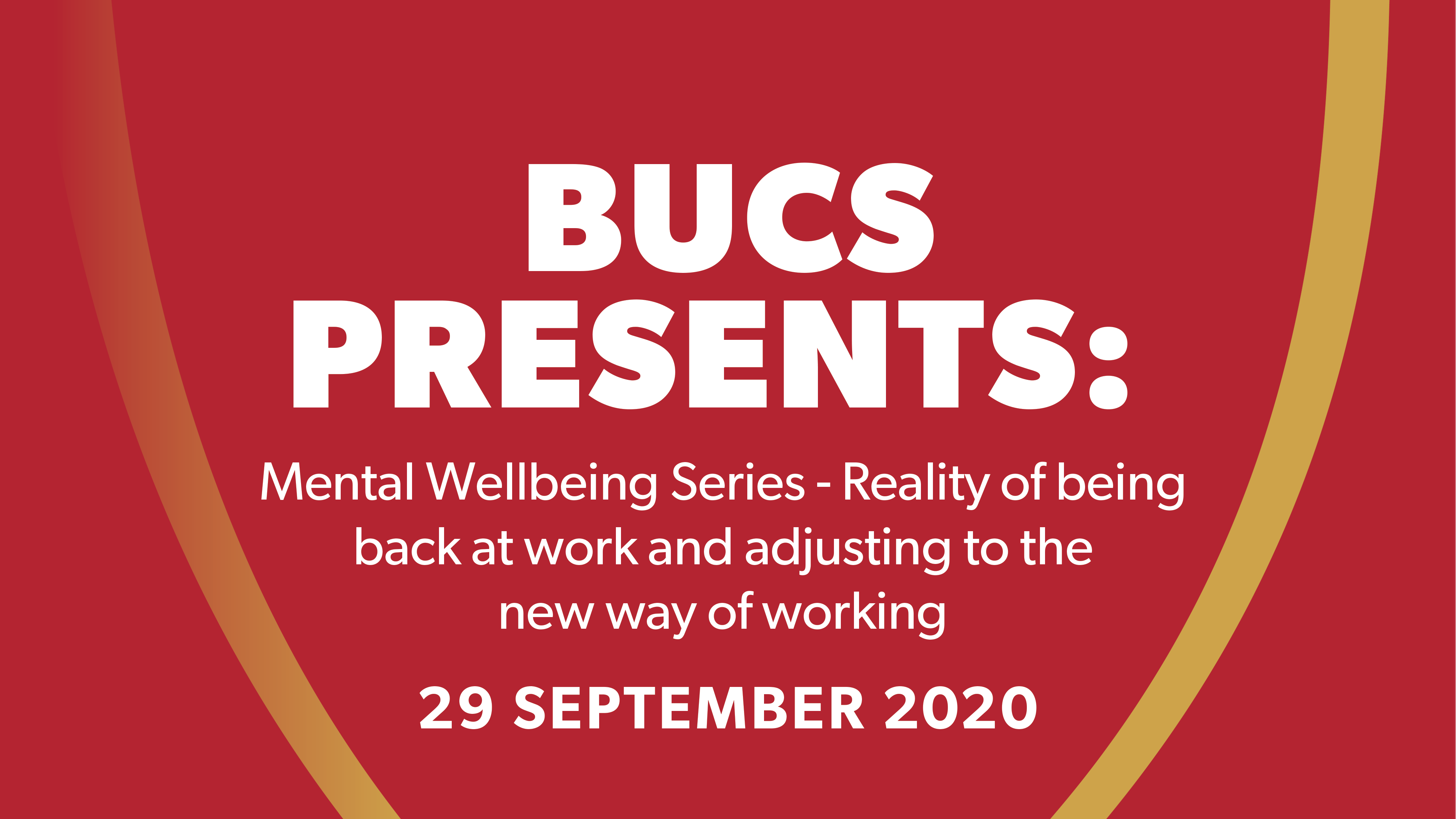 BUCS Mental Wellbeing Series: Session 2
