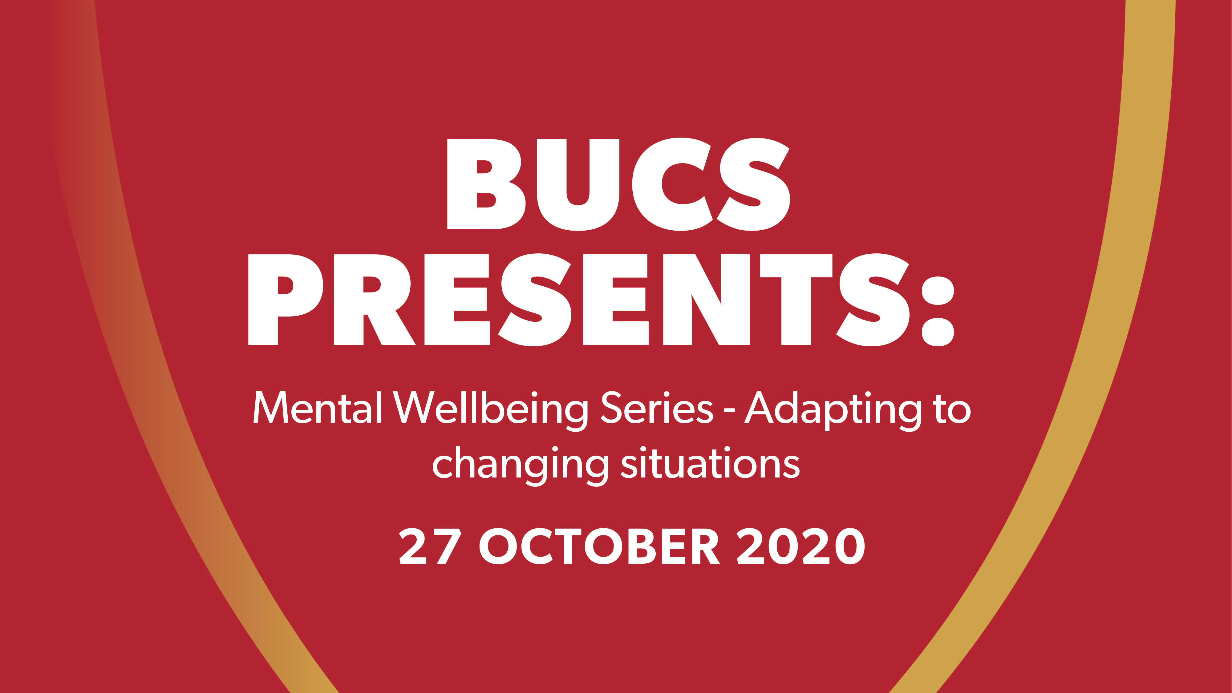 BUCS Mental Health Series: Session 3